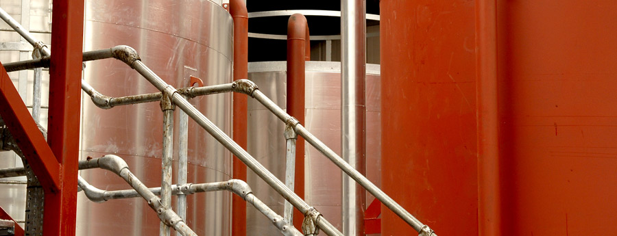used oil processing tanks
